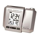 Hodiny na zeď Budík s projekcí času WS. 535.1 stříbrná 145528 Designové hodiny