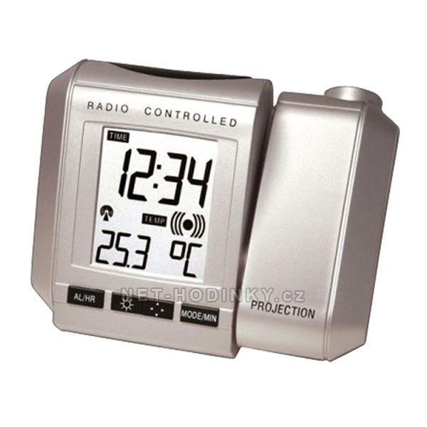 Budík s projekcí času WS. 535.1 stříbrná 145528 WT 535.1 stříbrná