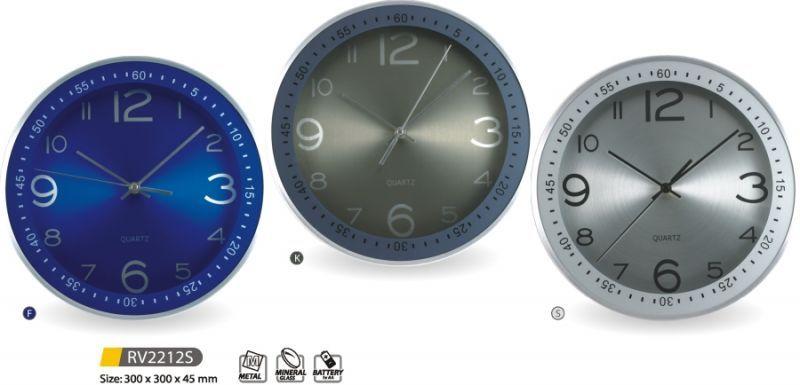 Hodiny na zeď Designové nástěnné hodiny kovové RV2212S - F, K, S 145602 MPM Quality Designové hodiny