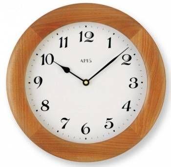 Hodiny na zeď Dřevěné nástěnné hodiny AMS 929/9 146124 Designové hodiny
