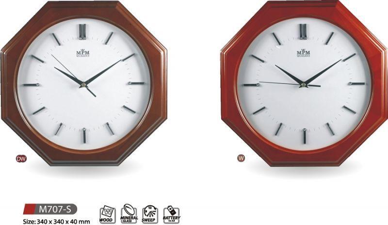 Hodiny na zeď Dřevěné nástěnné hodiny M707-S DW, W 145551 MPM Quality Designové hodiny
