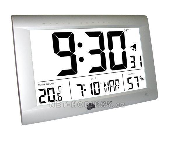 La Crosse Technology Hodiny nástěnné nebo stolní řízené signálem DCF. WS 8009.01 dcf SKLADEM 145444