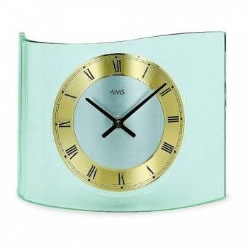 Hodiny na zeď Hodiny skleněné AMS 131, 130 146324 Designové hodiny