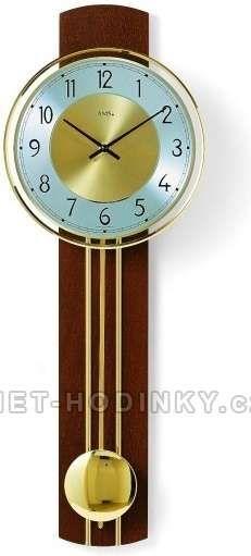 Kyvadlové hodiny AMS 7115/9 třešeň, 7115/18 buk, 7115/1 ořech 146190 AMS 7115/18 buk