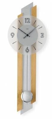 Hodiny na zeď Kyvadlové hodiny AMS 7207/18, 7207/1 146186 Designové hodiny