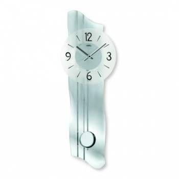 Hodiny na zeď Kyvadlové hodiny AMS 7239 ze skla 146183 Designové hodiny