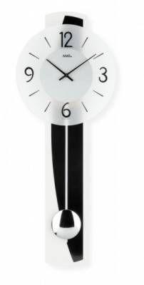 Hodiny na zeď Kyvadlové hodiny AMS 7279, 7278 146166 Designové hodiny