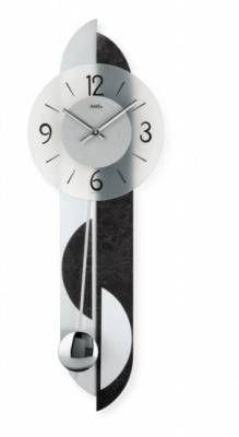 Hodiny na zeď Kyvadlové hodiny AMS 7299, AMS 7298, AMS 7299/1 146161 Designové hodiny