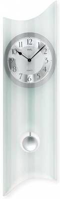 Hodiny na zeď Kyvadlové hodiny AMS 7324 skleněné 146157 Designové hodiny