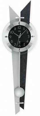 Hodiny na zeď Kyvadlové hodiny pendlovky AMS 5253, 5252, 5251 rádiem řízené 146195 Designové hodiny