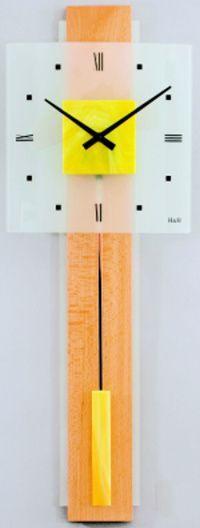 Hodiny na zeď Kyvadlové hodiny skleněné 1062.4, 1063.7 141443 H&H Designové hodiny