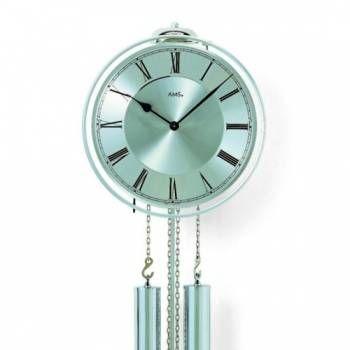 Luxusní mechanické kyvadlové kovové hodiny AMS 358 147451