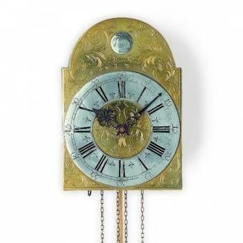 Hodiny na zeď Luxusní mechanické kyvadlové kovové hodiny AMS 382 147453 Designové hodiny