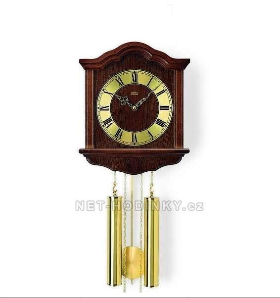Hodiny na zeď Mechanické kyvadlové hodiny AMS 206/1 ořech, AMS 206/4 dub 146153 Designové hodiny