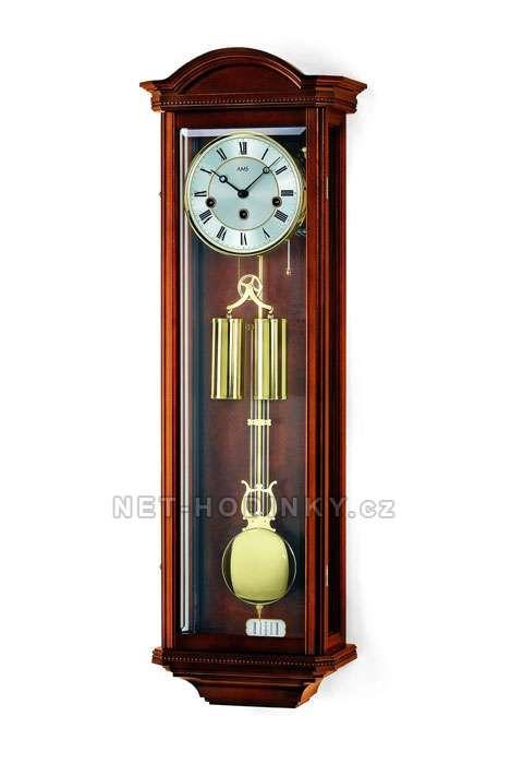 Hodiny na zeď Mechanické kyvadlové hodiny AMS 2672/1 ořech, AMS 2672/9 třešeň 146138 Designové hodiny