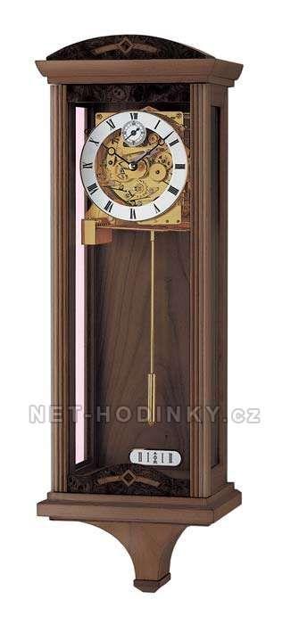 Hodiny na zeď Mechanické kyvadlové hodiny AMS 3682/1 ořech 147448 Designové hodiny
