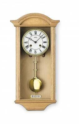 Hodiny na zeď Mechanické kyvadlové hodiny AMS 614/5 světlý dub, 614/1 ořech, 614/4 dub 146132 Designové hodiny