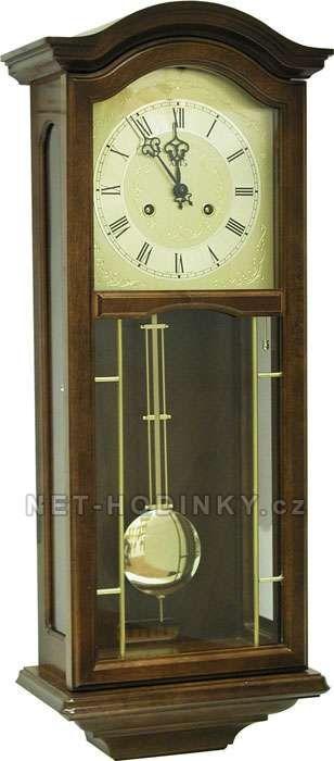 Hodiny na zeď Mechanické kyvadlové hodiny AMS 651/9 třešeň, AMS 651/1 ořech 146128 Designové hodiny