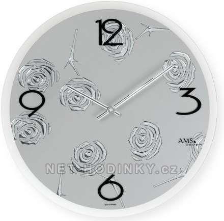 Moderní nástěnné hodiny AMS 9312 146357 Hodinářství