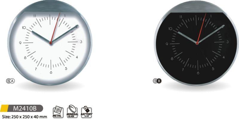 Hodiny na zeď Moderní nástěnné hodiny kovové M2410B - SA, SB 145609 MPM Quality Designové hodiny