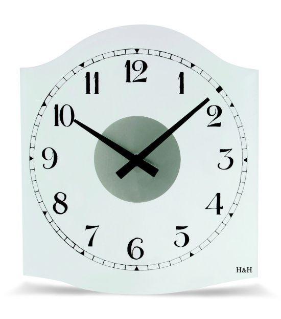 Hodiny na zeď Nástěnné hodiny 1036.3 skleněné 141574 H&H Designové hodiny