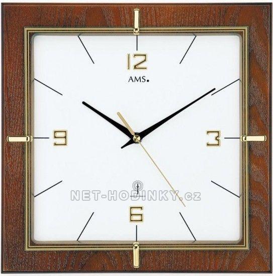 Hodiny na zeď Nástěnné hodiny AMS 5834 řízené rádiem 146316 Designové hodiny