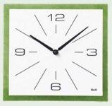Nástěnné hodiny čtvercové zelená 145033 Hodinářství