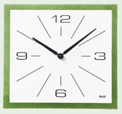 Hodiny na zeď Nástěnné hodiny čtvercové zelená 145033 Designové hodiny