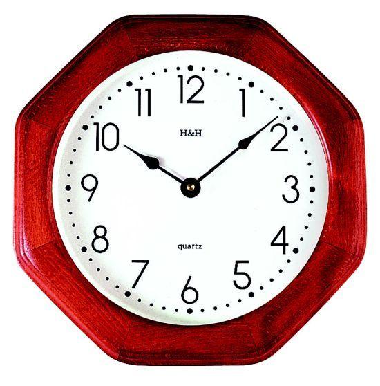 H&H Nástěnné hodiny dřevěné 4065.4 hranaté 139108