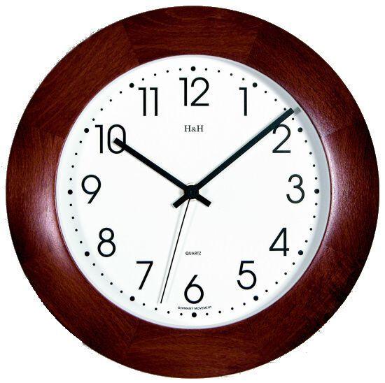 Hodiny na zeď Nástěnné hodiny dřevěné 4269.2 139100 H&H Designové hodiny