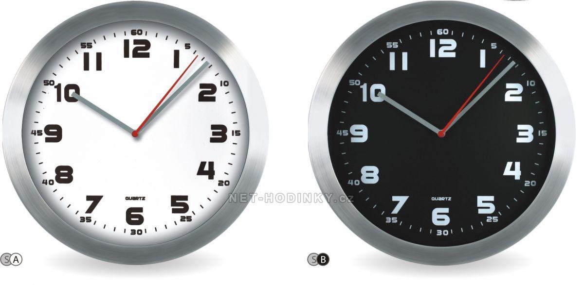 Hodiny na zeď Nástěnné hodiny kovové M2412C.01 145605 Designové hodiny