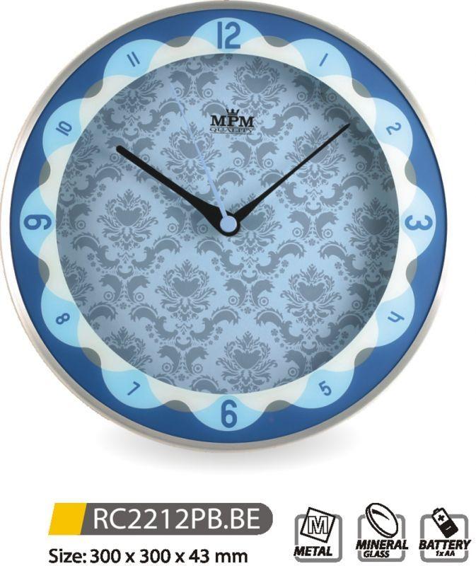 Nástěnné hodiny kovové RC2212PB.BE 145615 MPM Quality Hodinářství