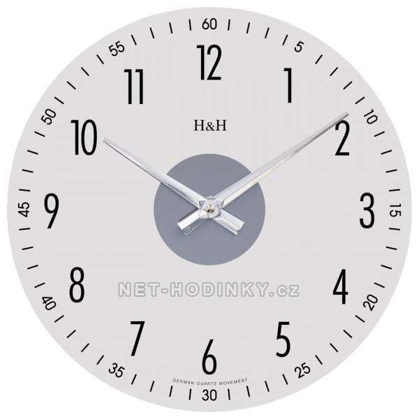 Hodiny na zeď Nástěnné hodiny kulaté skleněné 1108.01 138700 Designové hodiny