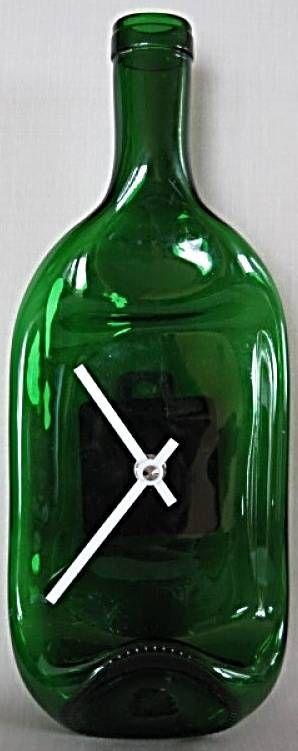 Nástěnné hodiny láhev 146435 autorské hodiny Hodinářství