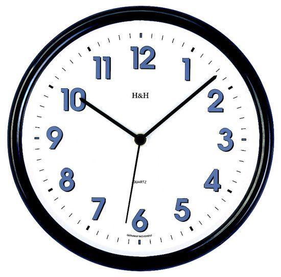 Hodiny na zeď Nástěnné hodiny plastové 3070.4, 3071.2, 3146.6 141322 H&H Designové hodiny