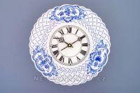Nástěnné hodiny porcelánové - reliéfní cibulový dekor 145275