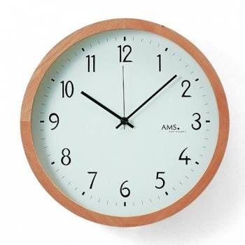 Nástěnné hodiny rádiem řízené AMS 5817 146319 Hodinářství