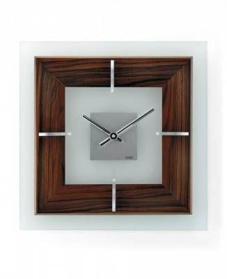 Hodiny na zeď Nástěnné hodiny rádiem řízené AMS 5852, 5851 146298 Designové hodiny