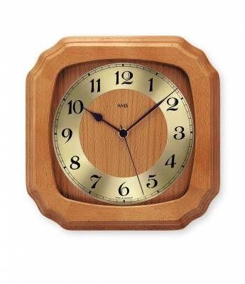 Hodiny na zeď Nástěnné hodiny řízené rádiem AMS 5866/9 146225 Designové hodiny