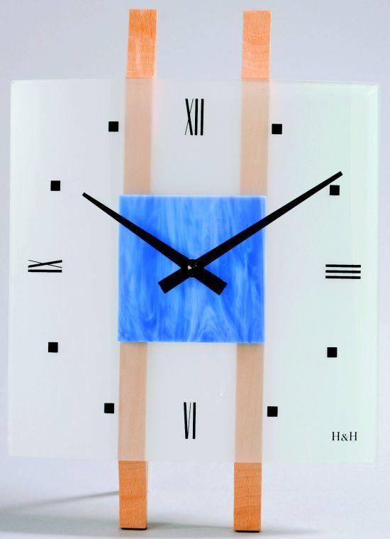 Hodiny na zeď Nástěnné hodiny skleněné 1066.1, 1067.2, 1068.3, 1069.4 čtvercové 138606 H&H Designové hodiny