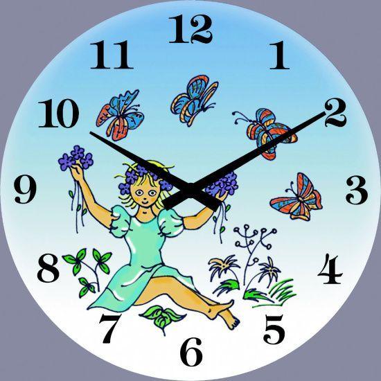 Nástěnné hodiny skleněné pro děti 1058.7 kulaté 139031 H&H Hodinářství