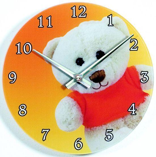 Hodiny na zeď Nástěnné hodiny skleněné pro děti 1097.9 kulaté 139020 H&H Designové hodiny
