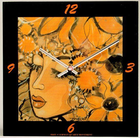 Hodiny na zeď Nástěnné hodiny skleněné SKLADEM 138684 H&H Designové hodiny