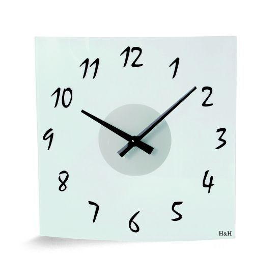 Hodiny na zeď Nástěnné hodiny skleněné W1037.1 141575 Designové hodiny