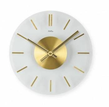 Hodiny na zeď Nástěnné skleněné hodiny AMS 9319, 9318 146250 Designové hodiny