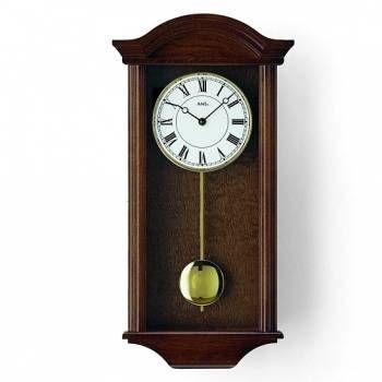 Hodiny na zeď Quartzové kyvadlové hodiny AMS 990/1 ořech, 990/4 dub, 990/16 olše 147436 Designové hodiny