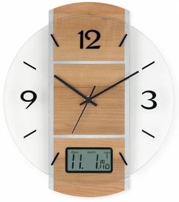 Hodiny na zeď Rádiem řízené nástěnné hodiny AMS 5915 146288 Designové hodiny
