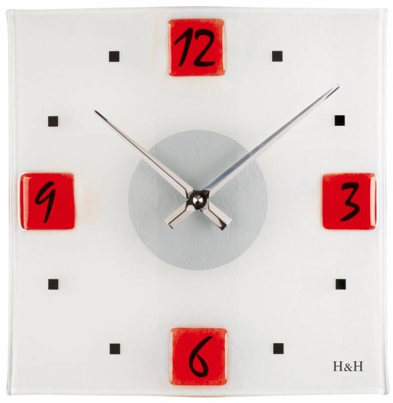 Hodiny na zeď Skleněné nástěnné hodiny 1131.2, 1159.4, 1160.1, 1161.7 145995 H&H Designové hodiny