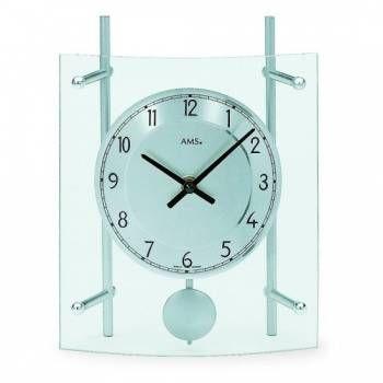Hodiny na zeď Stolní hodiny - pendlovky AMS 137, 135 146338 Designové hodiny