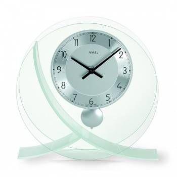 Hodiny na zeď Stolní hodiny - pendlovky AMS 161 146336 Designové hodiny